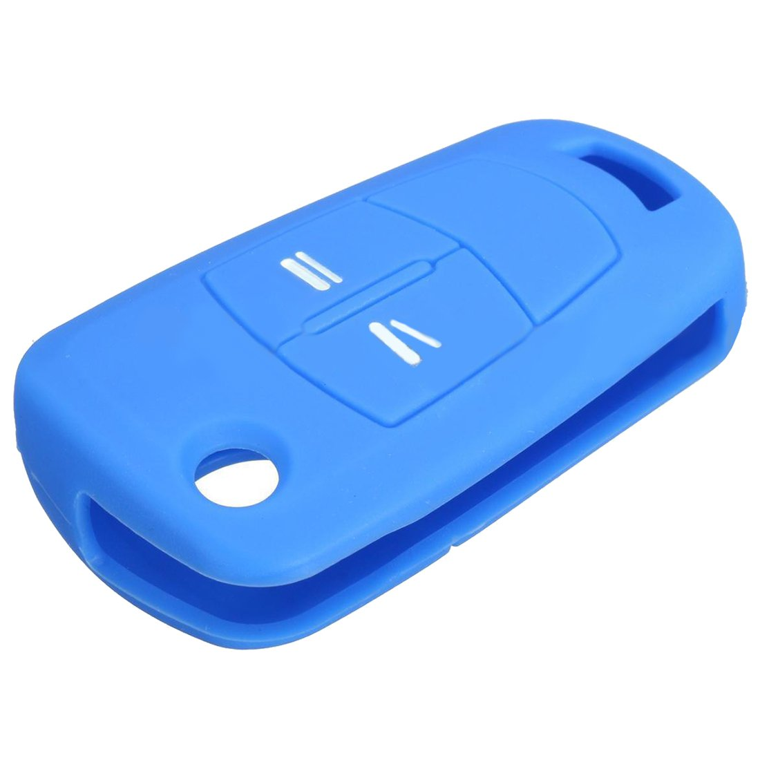 Cikuso Silicone Flip Key Case 2 Button fob Cover for Vauxhall Opel Astra Vectra CORSA