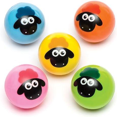 Baker Ross- Pelotas de Goma de ovejitas (Pack de 6) para Bolsas ...