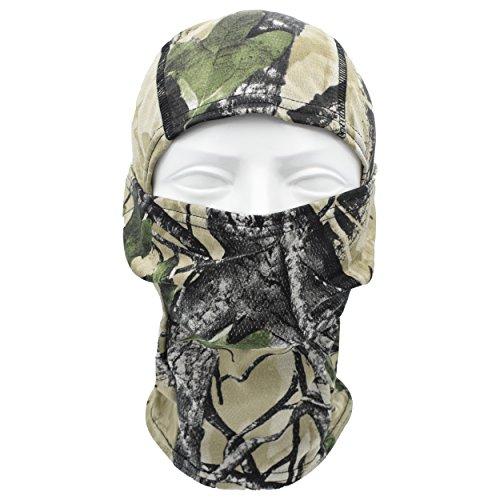 Heavyweight White Pullover Hood (TClian Camouflage Balaclava Outdoor Cycling Motorcycle Full Face mask gear hunting Ninja hood Millitary Tactical Camo Hunting mask (Alpie))