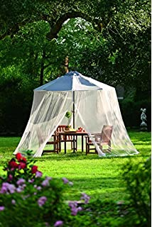 Plow U0026 Hearth Outdoor Umbrella Canopy Mosquito And Insect Net With Zippered  Opening   Breathable Woven