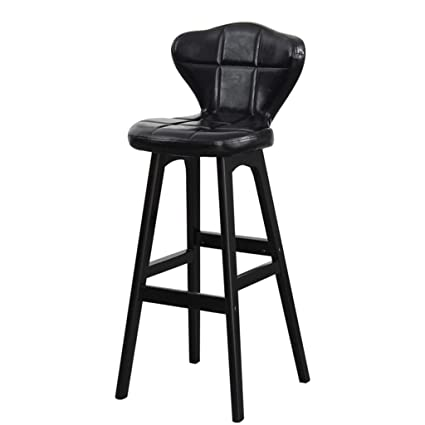 68b9100214a82 Amazon.com  F-yanyan Barstools Solid Wood Bar Chair High Stool Retro ...