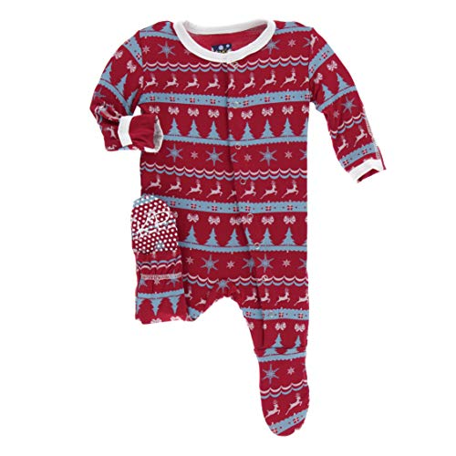 Kickee Pants Little Boys and Girls Holiday Footie
