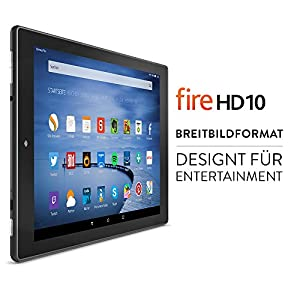 Fire HD 10-Tablet, 25,65 cm (10,1 Zoll), HD-Display, WLAN, 32 GB (Schwarz) - mit Spezialangeboten