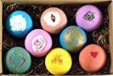 Bath Bomb Name Ideas LifeAround2Angels 8 USA Made Bath Bombs Gift Set - 4.5oz Each - A Unique Luxury Gift for Her - Bath Bombs Kit - Ultra Lush Spa Fizzies - Best Gift Ideas - Mothers Day Gift Sets - (Original)