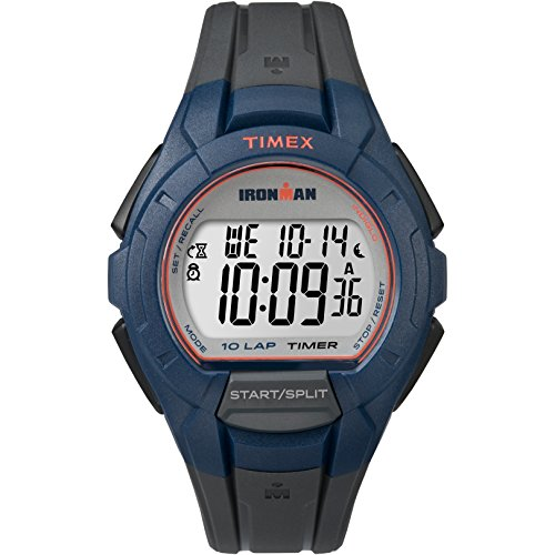 - Timex Men's Ironman | Essential 10-Lap Gray w Blue Bezel | Sport TW5K94100