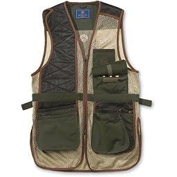 Beretta Men\'s Two Tone Clay Shooting Vest, Loden/Khaki, XX-Large