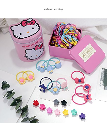 Generic Every day special baby girl Tousheng hair accessories tin Women Head hair rope Ties Ponytail Holder Band Hairband tie head does not hurt the hair rubber band stretch girl