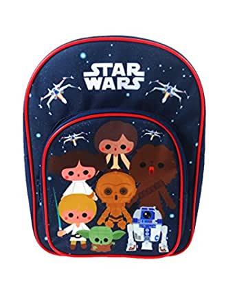 Star Wars Remix Kids Arch Backpack Rucksack With Pocket Blue