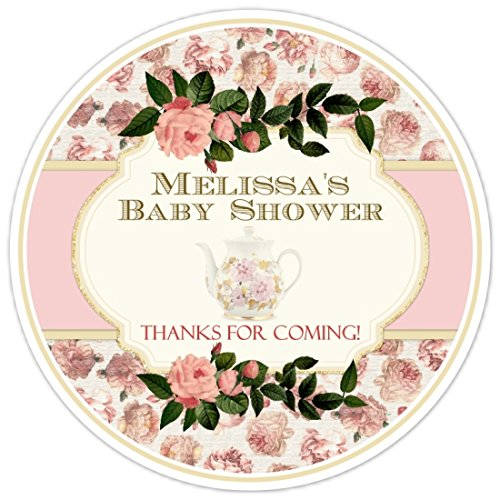 Amazon 36 Baby Shower Labels Vintage Tea Party Baby Shower