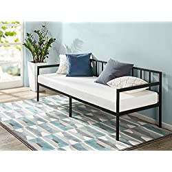Zinus Newport 30 Inch Wide Day Bed Frame and Foam Mattress Set