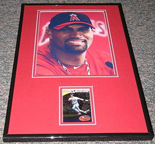 Autographed Albert Pujols Photo - Facsimile Framed 11x17 Display Cardinals - Autographed MLB Photos