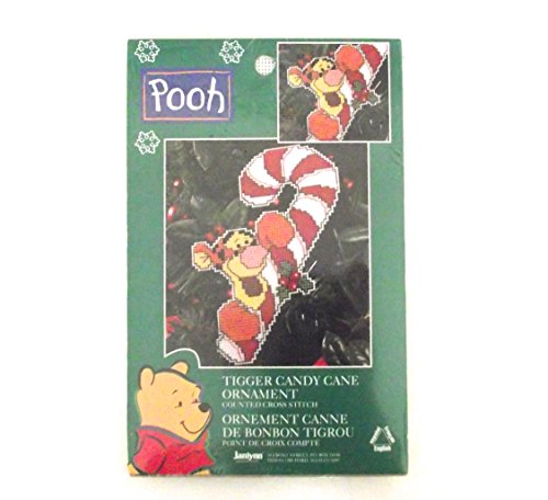 (Winnie The Pooh Tigger Candy Cane Counted Cross Stitch Ornament Kit)