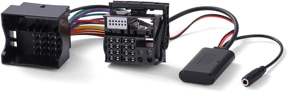 StepWorlf Adattatore Bluetooth Kit per auto compatibile per AUDI A3 8P RS3 A4 B7 TT CD AUX con cavo audio e microfono MA2264
