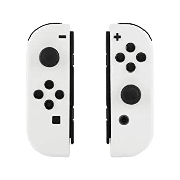 eXtremeRate Soft Touch Grip White Joycon Handheld Controller Housing with  Full Set Buttons, DIY Replacement Shell Case for Nintendo Switch Joy-Con –