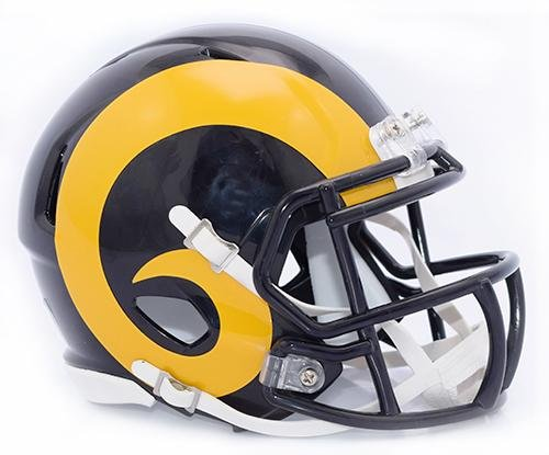 Los Angeles Rams Color Rush Throwback Riddell Speed Mini Football Helmet - New in Riddell Box ()