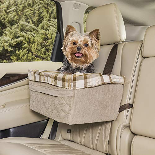 Save on PetSafe Happy Ride Quilted Booster Seat - Dog Booster Seat for Cars, Trucks and SUVs - Easy to Adjust Strap - Durable Padded Liner is Machine Washable and Easy to Clean - Large and more