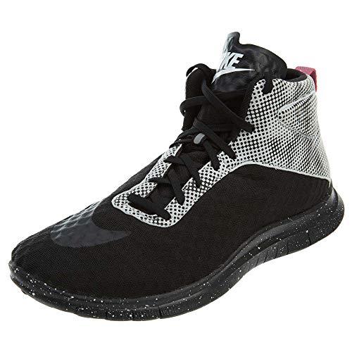 (Nike Free Hypervenom Mid QS Mens Running Shoes 706569-002 Black Pure Platinum-Blue Lagoon-Black 9.5 M US)