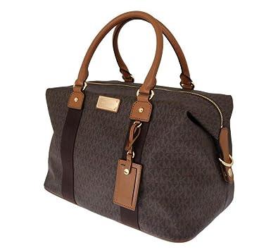 798d18092cee Michael Kors Jet Set Travel Signature Large Weekender/ Carry On Bag (Brown)