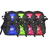 Atom Roller Derby Quad Skate and Inline Skate Sport Backpack w/ Devaskation Lanyard - 4 Bright Colors