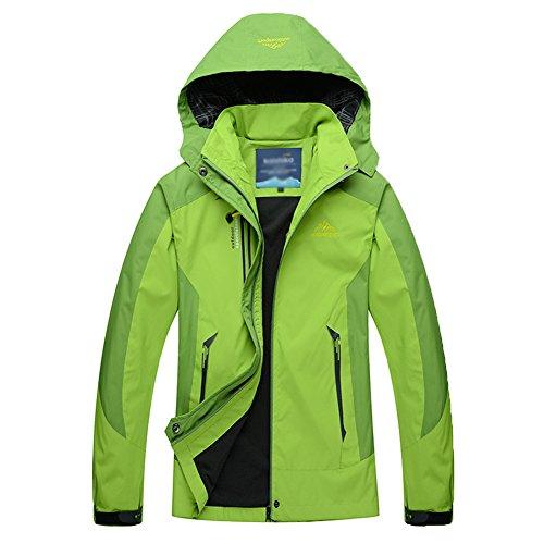 Softshell Verde Al Mujer Capucha Chaqueta Aire Montaña Windbreaker Con Impermeable Libre Hombre 0OqxZRPR