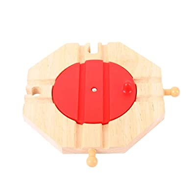 Bigjigs Rail 4 Way Turntable - Other Major Wooden Rail Brands are Compatible: Toys & Games