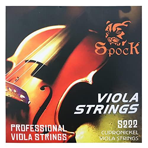 비올라 문자열 전체 세트.014-.039 중간 긴장이 있는 니켈 도금 공&스테인리스 스틸 구리-니켈 합금 권선 적당한 위치에 대한 전문적인 애호가를 연습과 공연