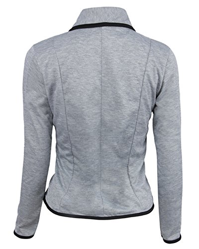 Top Business Elegante Outwear Camicetta Fit Donne Lightgrigio Giacca Slim Blazer qwfpYp