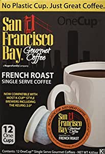 San Francisco Bay OneCup, French Roast, 12 Single Serve Coffees (Pack of 3)