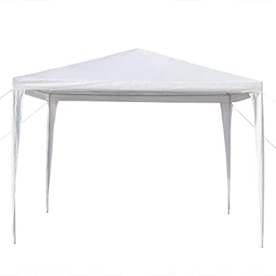 3 x 3m White Outdoor Gazebo Canopy Wedding Party Tent Waterproof with Spiral Tubes White : Garden & Outdoor