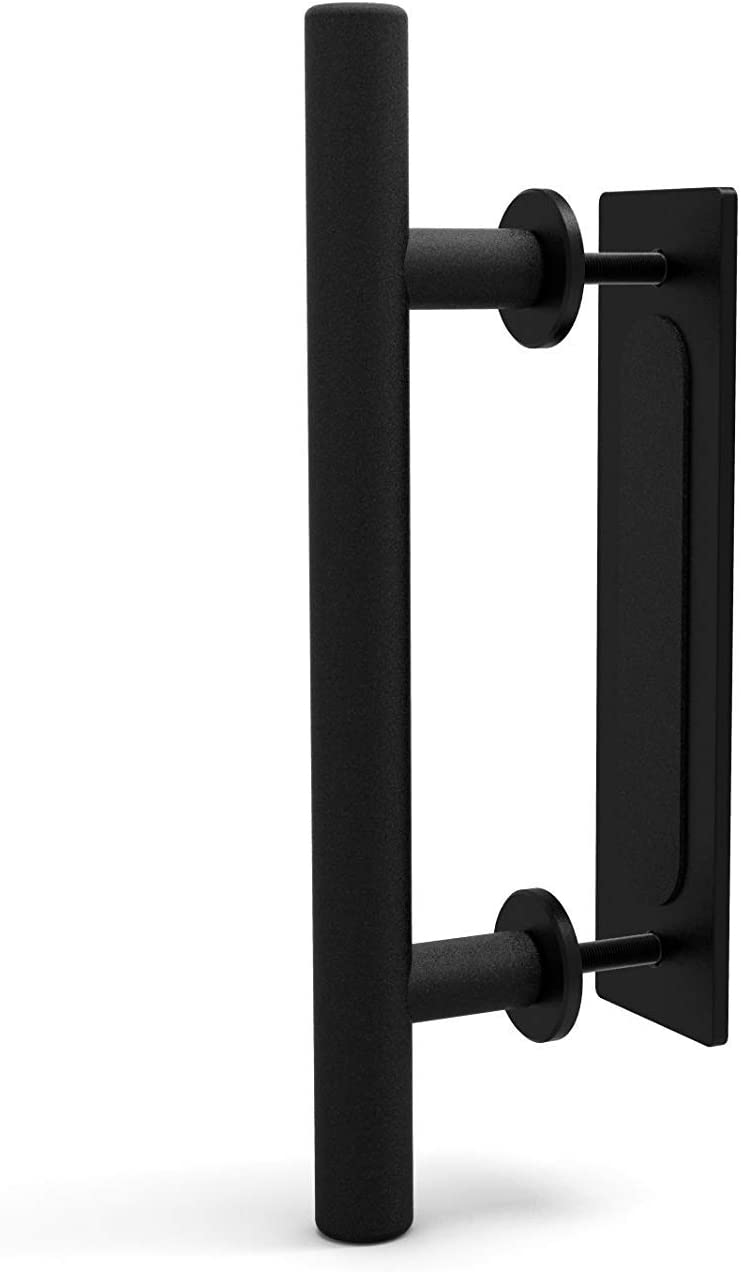 CCJH 30cm Aluminium Porte Coulissante Poign/ée De Porte Poign/ée Encastr/ée Quincaillerie Pour Coulissante Grange Portes Noir