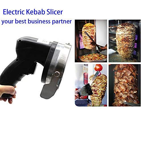 Electric Kebab Knife,110V 80W Professional Commercial Electric Shawarma Doner Kebab Knife Cutter Gyros Slicer Kebab Knife 2 Blades (USA Stock) by SHZICMY (Image #2)