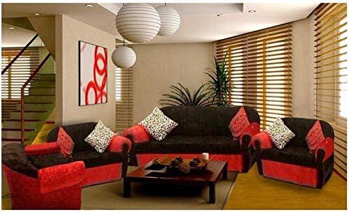 Royal 4 Piece Modern Living Room Sofa Set Dark Brown Red Buy Online At Best Price In Uae Amazon Ae