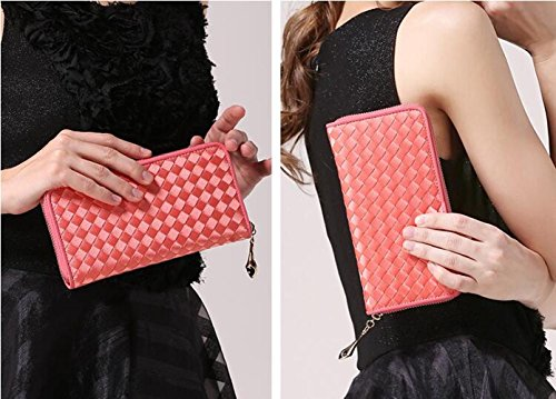 Women Folding Couple Knitting Ladypink Banquet Men Handbag Ladies Bag Bag Section Hand JPFCAK And Wallet Wrist Bag Long Fashion Bag 6wqYxA5F0
