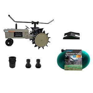 Watex WX44 Traveling Sprinkler and Sprinkler Hose Bundle