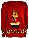 Rentier 3D Pullover, Mädchen, Junge