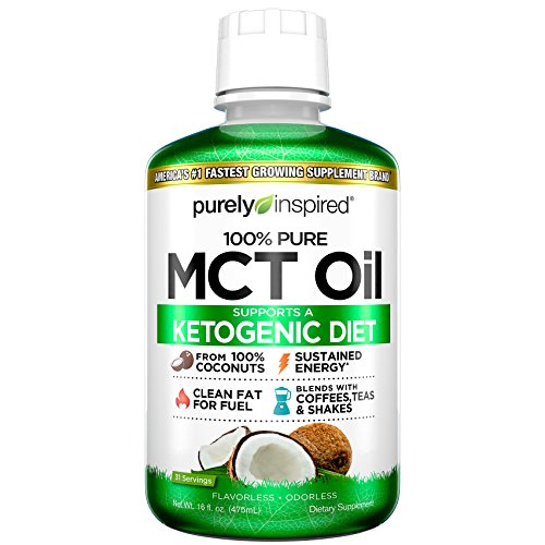 Purely Inspired 100% Pure MCT Oil, Sourced from Coconut, Supports Keto & Paleo Diets, Non-GMO, Gluten Free, Unflavored, 31 Servings (16oz) Review