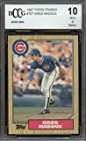 1987 topps traded #70t GREG MADDUX atlanta braves rookie card BGS BCCG 10 graded card