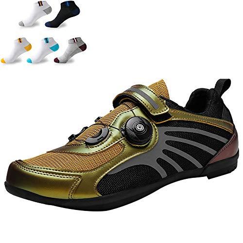 XFQ Men's Women's Cycling Shoes, Summer Casual Bike Shoes Anti-Slip No Lock Breathable Cushioning Camping Hiking Fashion…