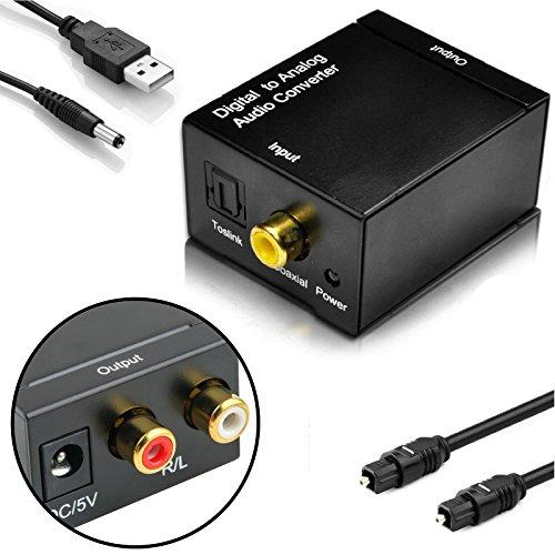 EEEkit Digital to Analog Audio Converter Adapter with Optica