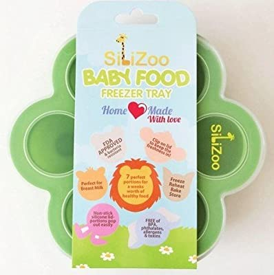 Silicone Homemade Baby Food Freezer Tray, Storage Containers with Clip-On Lid. Baking Mold, Ice Cube, Popsicle Tray - BPA Free and FDA Approved by SiliZoo by China that we recomend personally.