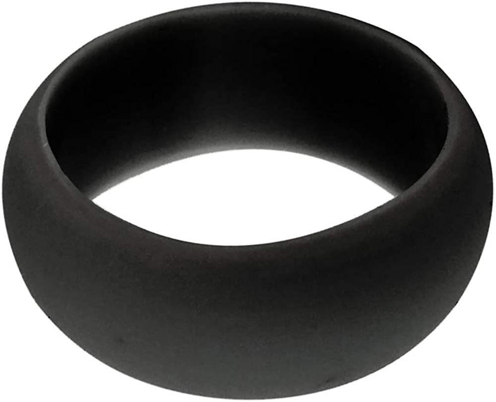 LOPEZ KENT Silicone Wedding Ring for Men /& Women Stackable Durable Rubber Safe Band for Couple