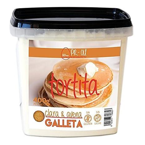 PR-OU Tortitas proteicas de Clara de Huevo y Avena 400 gr - Galleta: Amazon.es: Alimentación y bebidas
