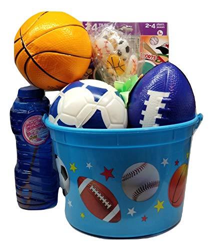 Blue Sports Theme Gift Basket