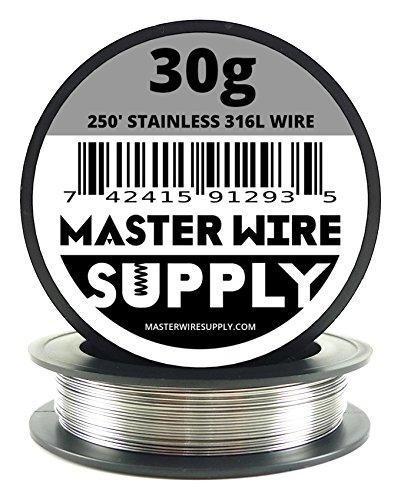 Stainless Steel 316L - 250' - 30 Gauge Wire - Buy Online in
