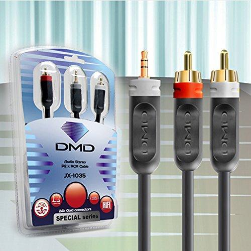 Diamond Cable JX-1035 3 Metros - Cabo de áudio P2/RCA stereo Unidade