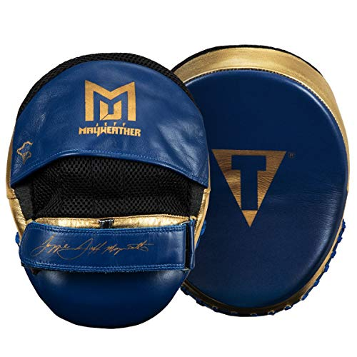 Title Boxing Jeff Mayweather Doom Mitts, Navy/Gold]()