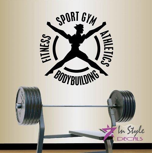 Wall vinyl decal home decor art sticker fitness gym sport athleetics