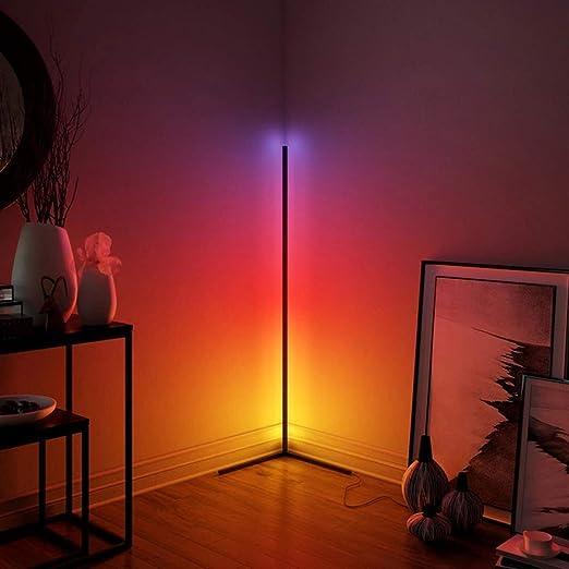 Nordic Remote Control Colorful Led Floor Lamp Lighting Modern Corner Atmosphere Standing Lamp For Hotel Bedroom Living Room Lamp Black Amazon Ca Home Kitchen