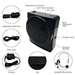 Voice Amplifier, soled Rechargeable Loud Speaker, Portable Microphone with Waistband and Microphone headset, for Teachers, Speakers, Gym Directors, Coaches, Presentations and Tour Guides Black by soled