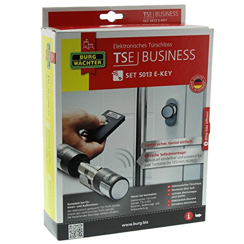 BURG-WÄCHTER (55020), Elektronisches Wireless-Türschloss mit Pincode und Fingerscan, TSE Set 5013 E-KEY